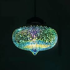 coloured glass pendant lights uk
