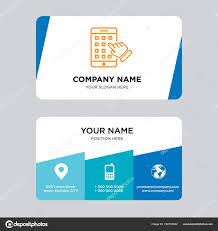 Iphone Business Card Design Template Stock Vector Provectorstock