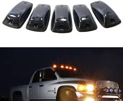Pickup Roof Lights Ijdmtoy Smoked Lens Amber Led Cab Roof Marker Running Lamps Compatible With Truck 4x4 Suv 5 Piece Aerodynamic Low Profile Roof Running Light Set