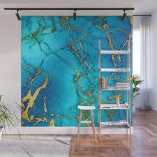 gold and teal blue indigo malachite