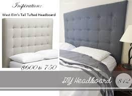 tall tufted headboard diy how to