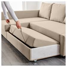IKEA FRIHETEN corner sofa-bed with storage Sofa, chaise longue and double  bed in