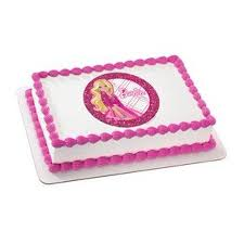 Barbie All Dolled Up Personalized Edible Cake Image Topper Walmartcom
