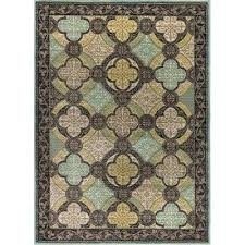 blue and brown rug blue and brown area rugs 5 x 7 medium aqua blue brown