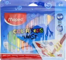 """""""<b>Мелки восковые 12</b> цветов """"Color'Peps Twist"""" (860612)"""" купить ..."""