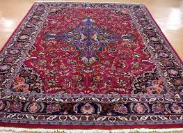 red and blue persian rug 8 x hand knotted wool red blue birds deer oriental rug