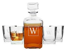 cathy s concepts personalized 5pc decanter and whiskey glasses set personalized gifts and party favors