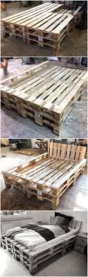 furniture made with wood pallets. Repurposed Wood Pallets Bed Furniture Made With R