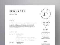 Joseph Paul Resume Cv Template Resume Templates Creative Market