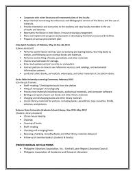 Librarian Resume Sample Template Elementary School Examples