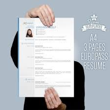 Curriculum Vitae Template Europass Modern Cv Design 3 Page Resume
