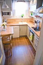 Brick Kitchen Floors Remodelaholic Tiny Kitchen Renovation With Faux Painted Brick