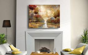 river stream trees canvas painting decor home art view larger on large canvas wall art amazon with amazon portfolio canvas decor large printed canvas wall art