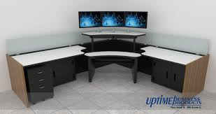 tech furniture. Single Tech Control Room Console Furniture, Corner Position, With Multi-screen Furniture -