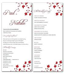 Images Of Ceremony Program Template Free Wedding Templates