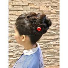 結婚式のお呼ばれに新日本髪崩しの振袖ヘアアレンジ Hairmake Opsis