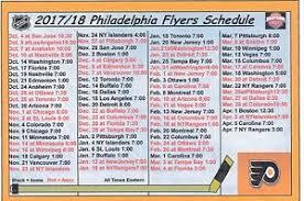 flyers scheduule philadelphia flyers 2017 18 nhl hockey schedule fridge magnet ebay
