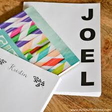 diy personalized notepads hello little home papercraft holidaygift