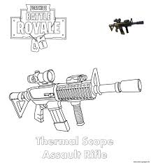 Coloring Pages Fortnite Guns Print Machine Pistol Fortnite Coloring