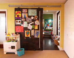 Cool Magnetic Sliding Door. contemporary-kids
