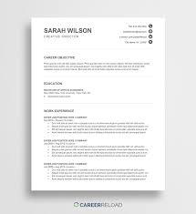 Microsoft Word Resume Template Free Word Resume Templates Free Microsoft Word CV Templates 22