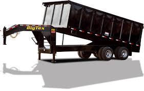 trailer styles big tex dump trailers 25du tandem dual gooseneck dump trailer