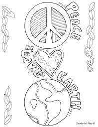 Conflict Resolution Coloring Sheets Earth Day Coloring Pages At