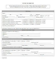 new patient forms medical office templates open dental manual registration forms