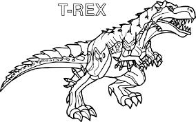 Coloriage De Dinosaure T Rex L