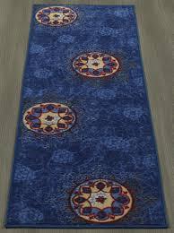 ottomanson studio collection blue medallion design 20 x59 runner rug ottomanson