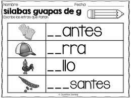 Onlinefreespanish coloring pages download and print these coloring pages to learn numbers, animals, and more. Silabas Guapas Spanish Phonics Activities For Ga Gue Gui Go Gu