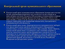 лек Контрольный орган муниципального образования