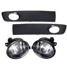 Caravelle Lighting Pair Car Front Bumper Fog Lights Lamp With Grilles Cover For Vw Transporter Caravelle 2009 2015