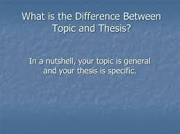 moving from topic to thesis so you don t end up looking like this what is the difference between topic and thesis