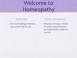 week three homeopathy welcome to homeopathy materials  2 welcome