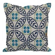 16in x floral medallion navy outdoor decorative pillow outdoor throw pillows0