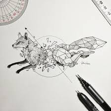 Sketches Animal Wild Animal Illustrations Burst Out Of Geometric Encasings