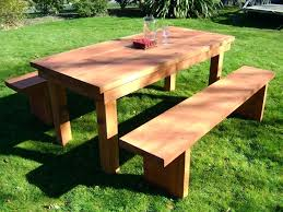 diy pallet outdoor dinning table. Diy Outdoor Dining Table Patio Furniture Wood Reclaimed A Simple Redwood With Pallet Dinning