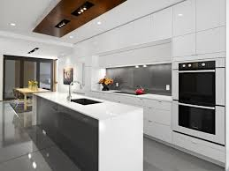 cabinetry design with vintage designs in minimalist kitchen interior white countertop near the white kitchen
