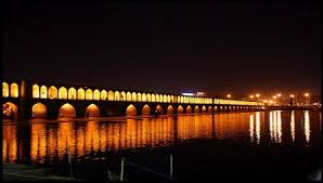 Image result for ‫سی و سه پل و پل خواجو شب‬‎