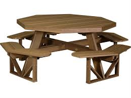luxcraft recycled plastic 86 5 octagon picnic table with umbrella hole popt dining