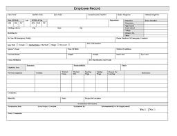 Employee Record Sheet Under Fontanacountryinn Com