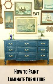 laminate furniture makeover. learn how to paint laminate furniture makeover