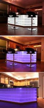 glass block led light kit with color fade and change all colors all