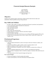 financial analyst resume example  ilivearticlesinfo