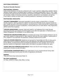Military Skills Translator For Resume Free Resume Example And