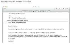 Email Example For Sending Resume And Cover Letter Primeliber Com