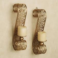 gold wall sconces for candles