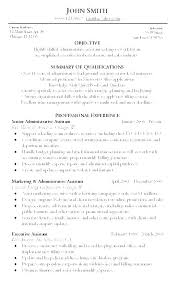 Sample Resume Objectives For Administrative Assistant Executive Fascinating Objective Resume Administrative Assistant