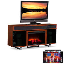 pacer 64 traditional fireplace tv stand with sound bar cherry